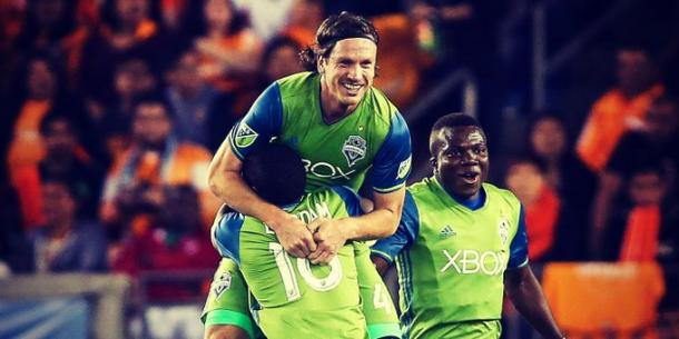 Gustav Svensson celebrating the opener. | Photo: Major League Soccer