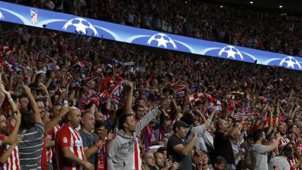 I supporters dell'Atletico. | Fonte immagine: Twitter @Atleti