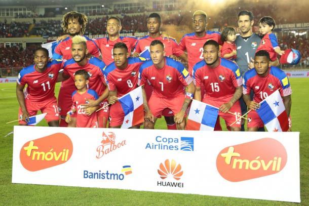 Panama durante la presentación en un partido clasificatorio (twitter selección panameña)