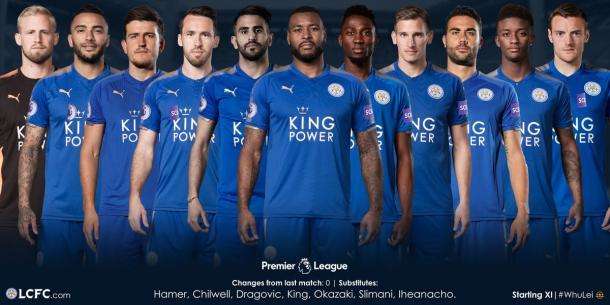 Alineación | Foto: Leicester City
