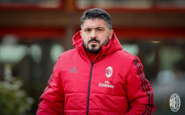 Gattuso dirigiendo al AC Milan   Foto: ACM