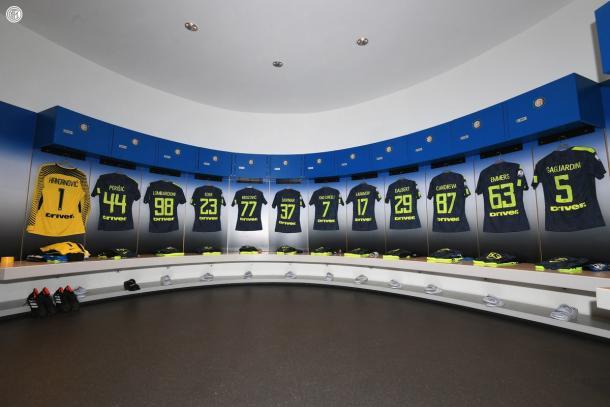 Immagine dallo spogliatoio dell'Inter| TWITTER @inter