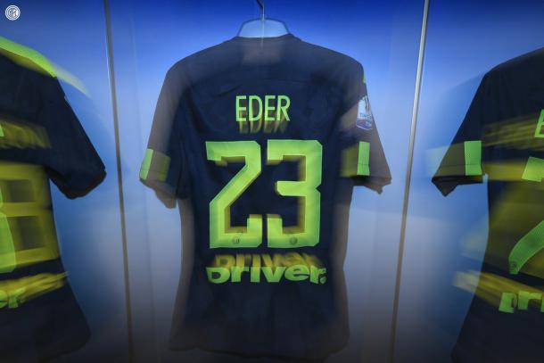 La maglia di Eder, titolare stasera | TWITTER @Inter