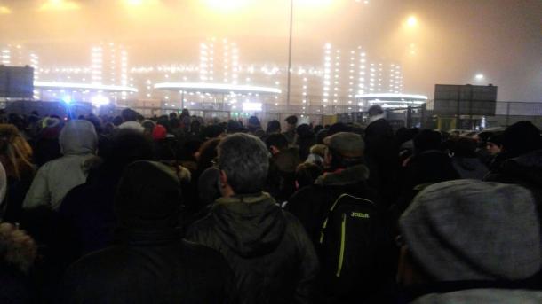 Tifosi del Pordenone arrivati a San Siro | Twitter @pordenonecalcio