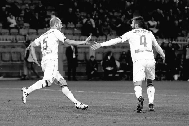Andrea Masiello e Bryan Cristante, protagonisti nel successo della Dea con il Genoa. Fonte foto: Atalanta BC | Twitter
