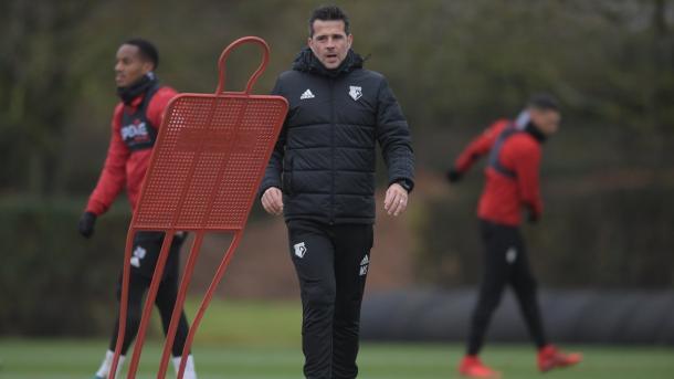 Silva en la sección de entrenamiento   Foto: Watford.