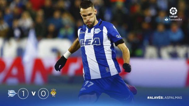 Alfonso Pedraza, el revulsivo de los dos últimos partidos. Fuente: deportivoalaves.com