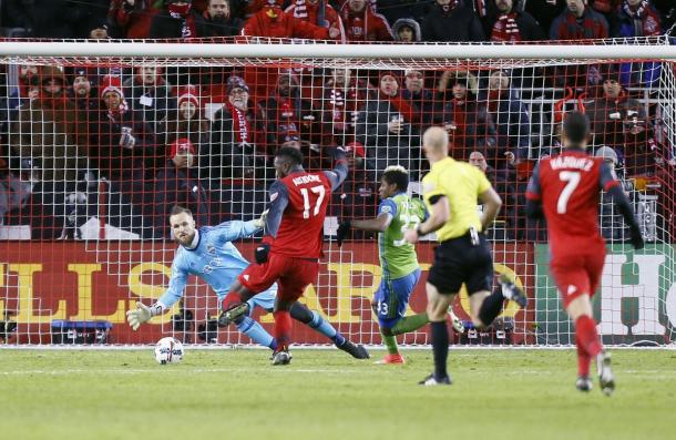 Despite Stefan Frei's best efforts, Seattle could not keep Toronto at bay | Source: mlssoccer.com