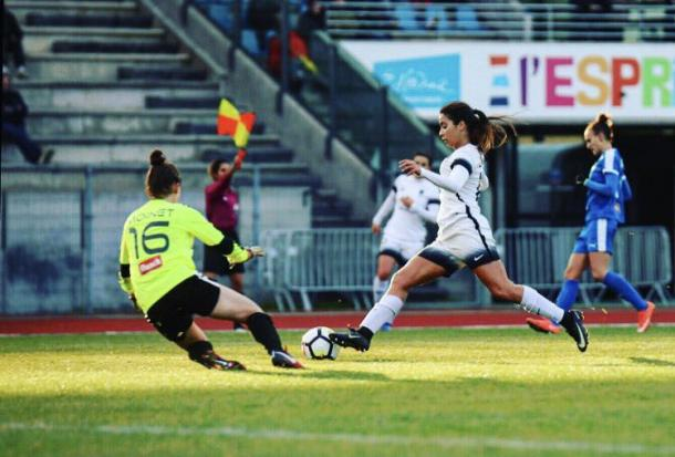 Anissa Lahmari scored the only goal of the game for Paris FC | Source: parisfootballclub.com