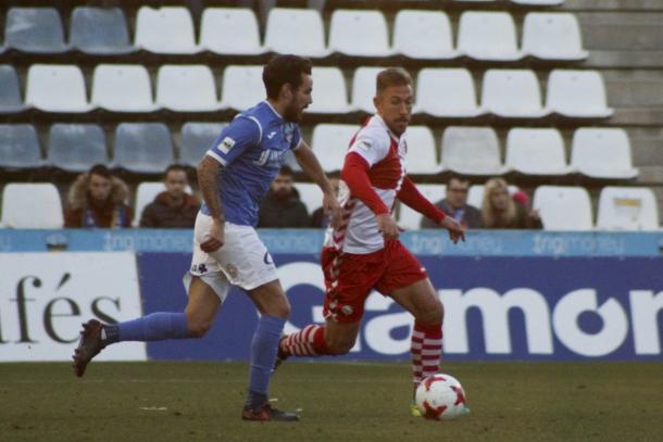 Imágen del encuentro de ida entre ambos equipos | Foto: Sandra Dihör - CE Sabadell