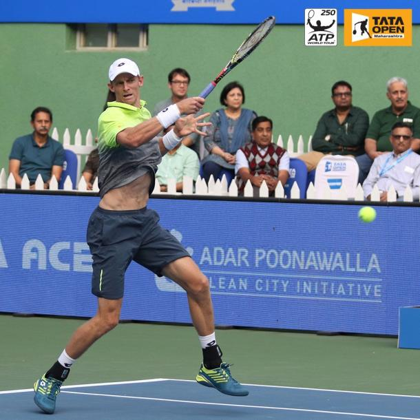 Anderson hitting a forehand (Tata Open Twitter)