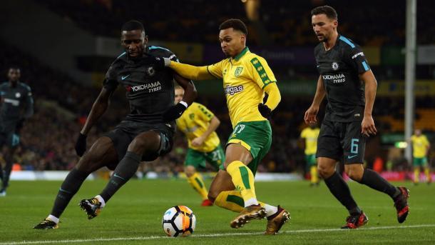 Murphy fue de lo mejor en en el encuentro de ida. Foto: Norwich City.