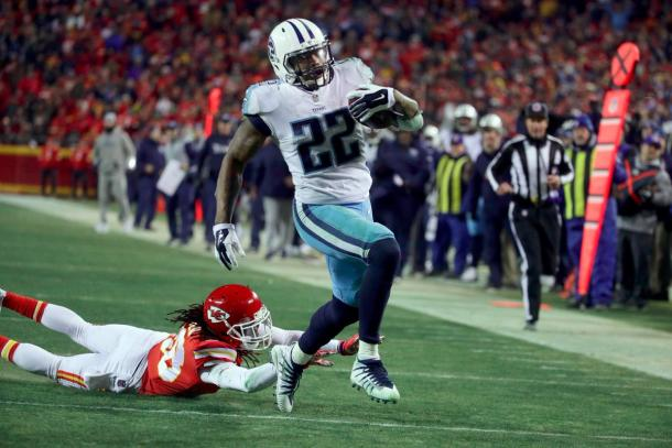 Derrick Henry finished with 1 TD and 156 rushing yards | Source: Associated Press