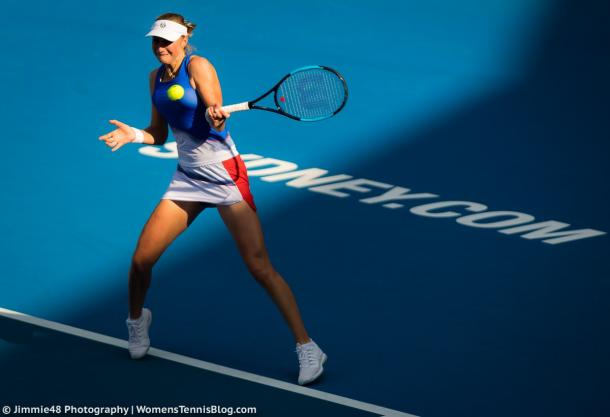 Ekaterina Makarova in action during the match | Photo: Jimmie48 Tennis Photography