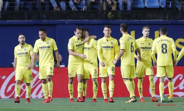 Los jugadores del Villarreal celebrando el gol de Ünal | LaLiga