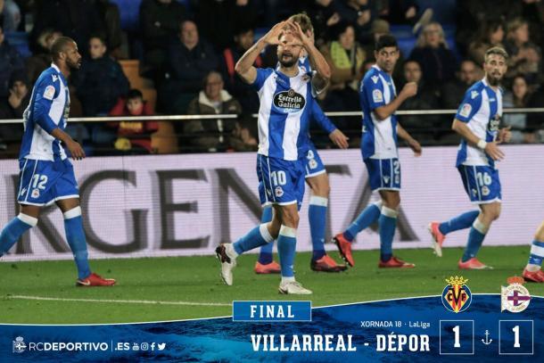 Andone celebrando el gol del empate | RC Deportivo