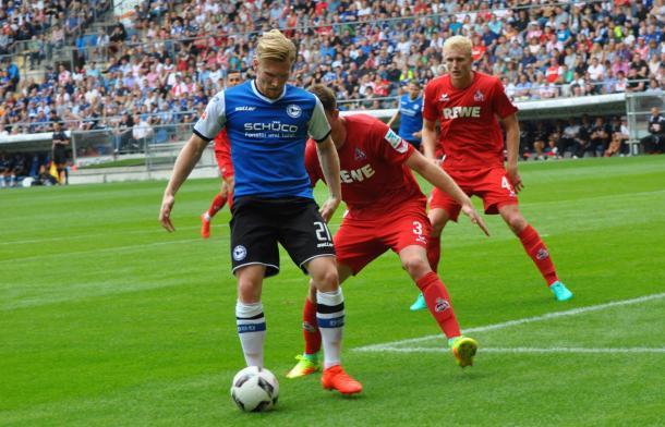 Bielefeld in friendly action. | Image credit: Arminia Bielefeld