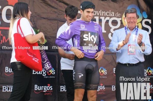 Mikel Landa, maillot morado de líder en la Vuelta a Burgos | Foto: Marcos López - VAVEL