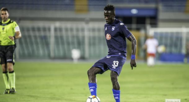 Primo gol con la maglia del Pescara per Mamadou Coulibaly (Fonte foto: Pescara Calcio)