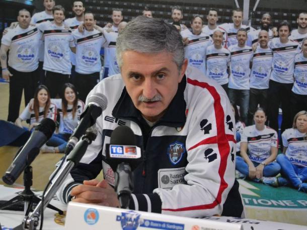 Marco Calvani, allenatore della Dinamo Sassari. Fonte foto: sardegnasport.com