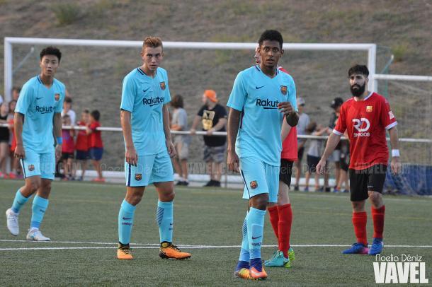 El delantero asistió el segundo tanto de Marc Cardona ante el Santboià | Foto: Noelia Déniz - VAVEL