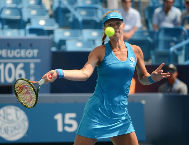 Kiki Bertens was especially good off the forehand side in the second and third set (Noel Alberto/VAVEL USA)