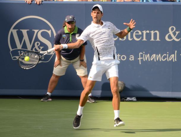 The Djokovic forehand came through when he needed it (Noel Alberto/VAVEL USA)
