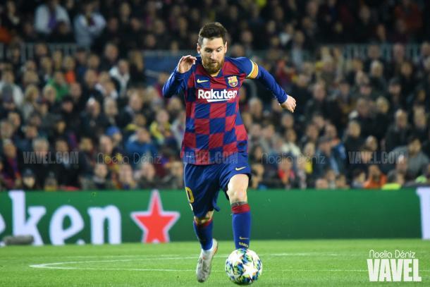 Leo Messi, en un partido de Champions esta temporada | Foto: Noelia Déniz - VAVEL