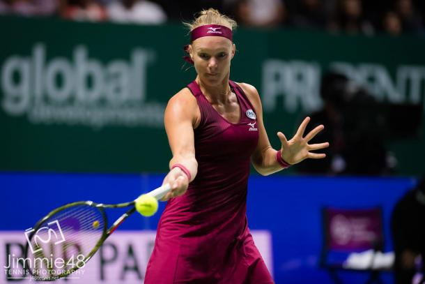 Bertens used her forehand to force a final set (Jimmie48 Tennis)