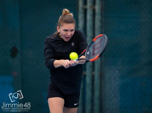 Simona Halep during a practice session at the China Open | Photo: Jimmie48 Tennis Photography