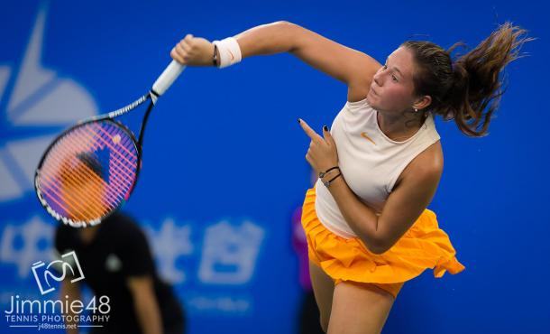 Daria Kasatkina in action at the Wuhan Open | Photo: Jimmie48 Tennis Photography