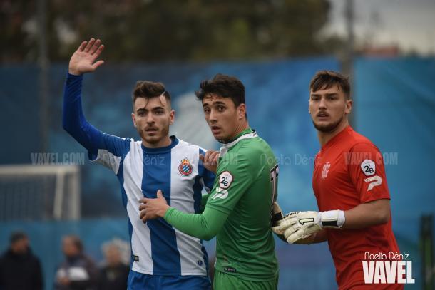 Victor Campuzano entró en la segunda mitad, pero no pudo ver puerta | Foto: Noelia Déniz - VAVEL