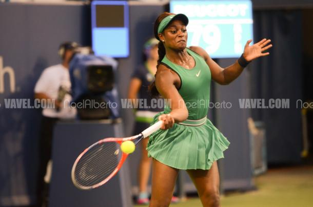 Sloane Stephens is the defending champion here in New York
