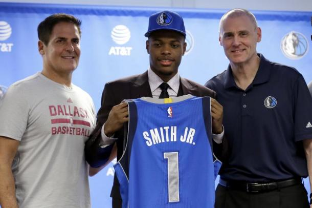 Hunter sees the Mavericks winning the No. 1 pick in the lottery. Last year, the Mavericks selected Dennis Smith Jr. with the No. 9 pick. Photo: Tony Gutierrez/Associated Press