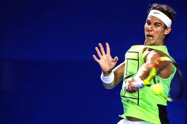 Rafael Nadal in training at the Mexican Open before pulling out (Photo: Hector Vivas/Getty Images)