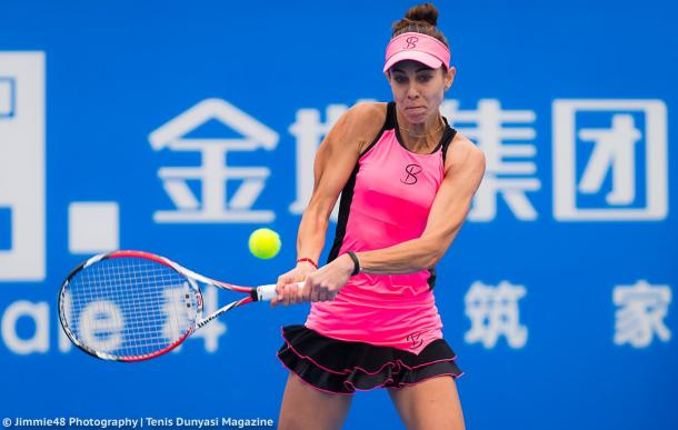 Mihaela Buzarnescu in action | Photo: Jimmie48 Tennis Photography