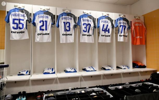 Vestuario del Inter antes del partido | Foto: Inter