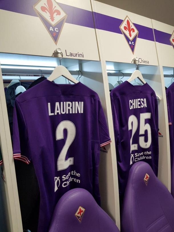 Vestuario de la Fiorentina antes del partido | Foto: ACF Fiorentina