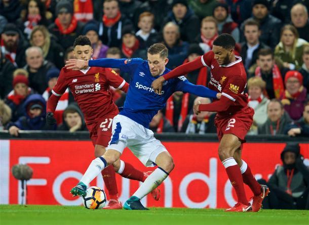Sigurdsson marcó el 1-1 tras una contra de manual | Foto: Liverpool.