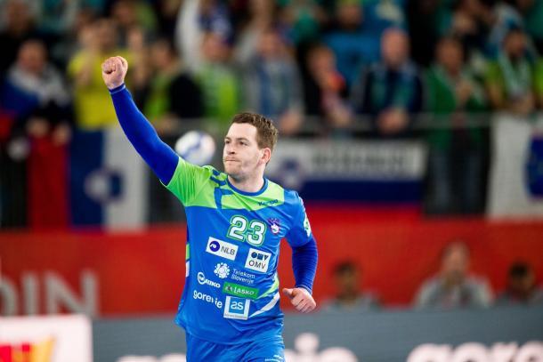 Zarabec celebra un gol | Foto: EHF