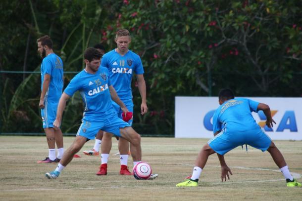 Reforços para atual temporada, Marlone e Pedro Castro iniciam como titulares (Foto: Williams Aguiar/Sport)
