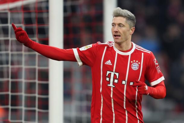 L'esultanza di Lewandowski dopo un gol segnato. Foto: Twitter FC Bayern English