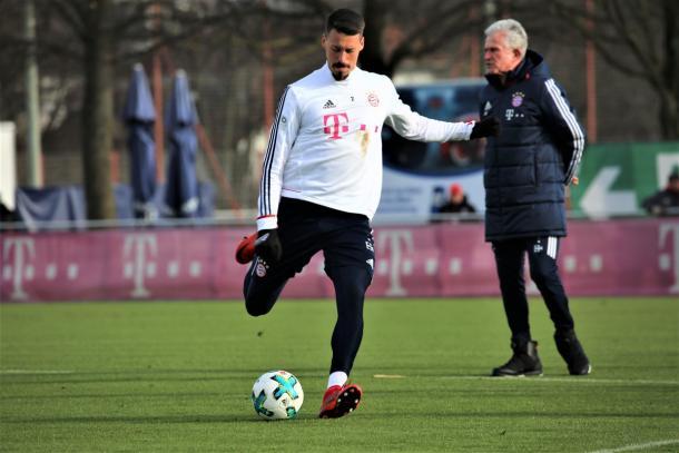 Wagner durante una seduta di allenamento. Foto: Twitter FC Bayern English