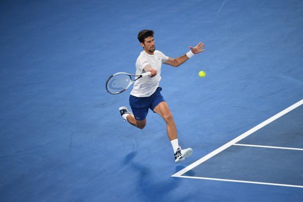 Djokovic - Fonte: @AustralianOpen/ Twitter.
