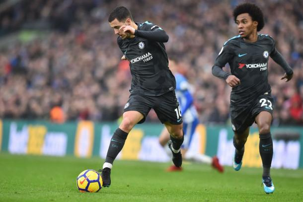 Hazard y Willian mostraron un gran nivel   Foto: Chelsea.