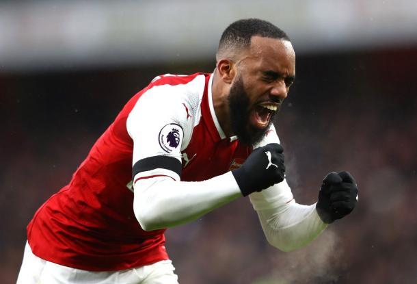 Lacazette celebra el cuarto tanto del Arsenal | @Arsenal
