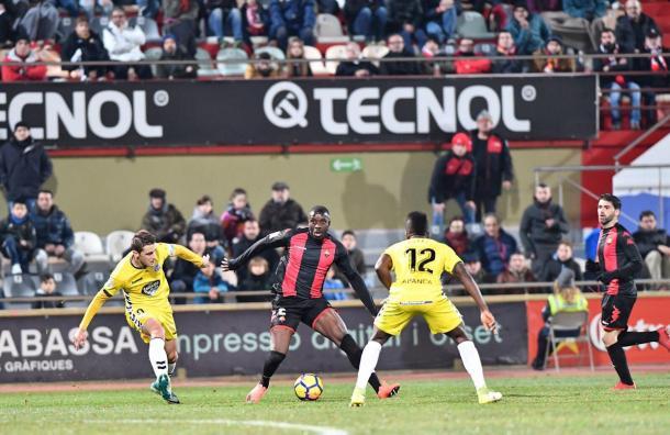 Karim Yoda, que entró en el segundo tiempo, pudo haber conseguido la igualada | Foto: CF Reus