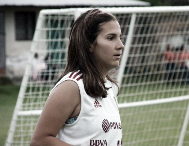 Verónica Herrera durante un entrenamiento de preparación / Foto: Prensa FVF