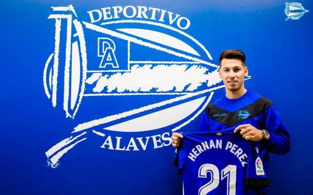 Hernán Pérez, última incorporación al equipo alavesista. Fuente: deportivoalaves.com