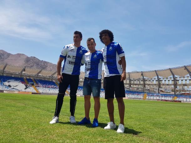 Bello en su presentación oficial con Antofagasta / Foto: Prensa Deportes Antofagasta